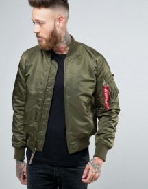 Alpha Industries Ma-1 Bomber Jacket Insulated In Slim Fit Dark Green afbeelding