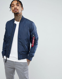 Alpha Industries Ma1-tt Bomber Jacket Slim Fit In Navy afbeelding