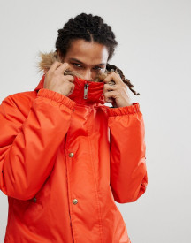 Analog Frazier Ski Parka Jacket Insulated Hooded Detachable Faux Fur Trim In Red afbeelding