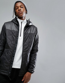 Armada Gremiln Quilted Puffer Jacket Hooded In Black afbeelding
