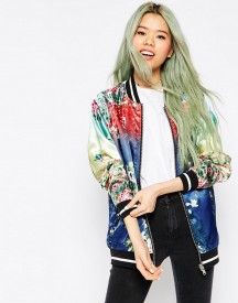 Asos Bomber Jacket With Ombre Print Detail afbeelding
