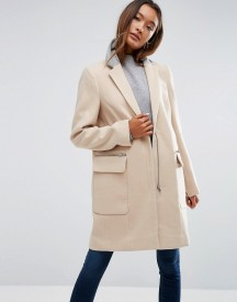 Asos Coat In Classic Fit With Contrast Collar afbeelding