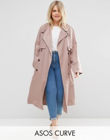 Asos Curve Mac In Waterfall Drape With Roll Back Sleeve afbeelding