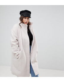 Asos Curve Oversized Coat With Funnel Neck afbeelding
