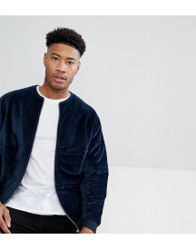 Asos Tall Bomber Jacket In Quilted Puffer Velour afbeelding