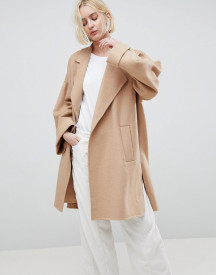 Asos Design Coat With Seam Detail afbeelding