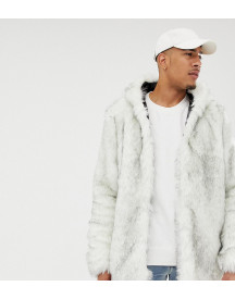 Asos Design Tall Faux Fur Bomber In White afbeelding