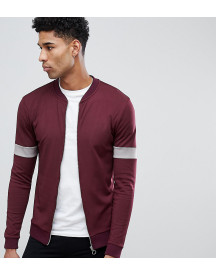 Asos Design Tall Retro Muscle Bomber With Sleeve Colour Blocking afbeelding