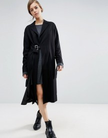 Asos Duster Coat With Split And Buckle Detail afbeelding
