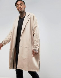 Asos Extreme Oversized Extreme Longline Jersey Duster Jacket With Side Zips afbeelding