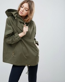 Asos Jacket With Hood And Ring Pull Detail afbeelding