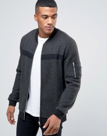 Asos Ma1 Jersey Bomber Jacket With Taping afbeelding