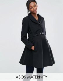Asos Maternity Skater Coat With Funnel Neck afbeelding
