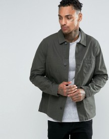 Asos Military Style Jacket In Khaki afbeelding