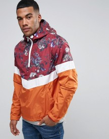 Asos Overhead Windbreaker In Palm Print afbeelding