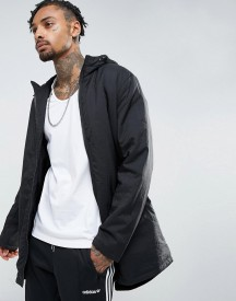 Asos Parka Jacket With Padding In Black afbeelding