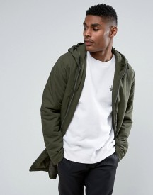 Asos Parka Jacket With Padding In Khaki afbeelding