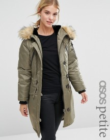 Asos Petite Luxe Parka With Ma1 Detail afbeelding