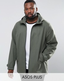 Asos Plus Lightweight Parka Jacket In Khaki afbeelding