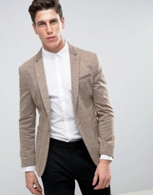 Asos Super Skinny Blazer In Putty Jersey afbeelding