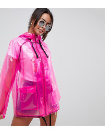 Asos Design Tall Rain Jacket With Contrast Binding afbeelding