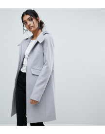 Asos Tall Hooded Slim Coat With Zip Front afbeelding