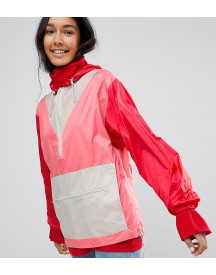Asos Tall Over The Head Rainmac In Colourblock afbeelding