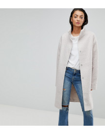 Asos Tall Oversized Coat With Funnel Neck afbeelding