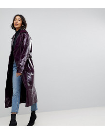 Asos Tall Oversized Mac In Vinyl afbeelding