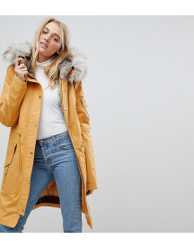 Asos Tall Parka With Detachable Faux Fur Liner afbeelding