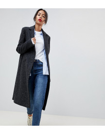 Asos Tall Slim Coat In Wool Blend afbeelding