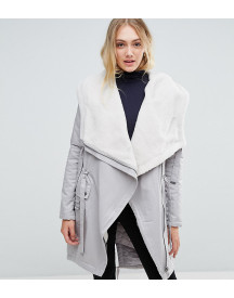 Asos Tall Waterfall Parka With Borg Lining afbeelding