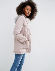 Asos Washed Hooded Jacket With Padded Liner afbeelding