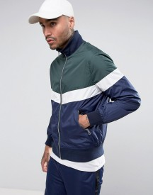 Asos Zip Through Overhead Jacket With Cut And Sew Panels afbeelding