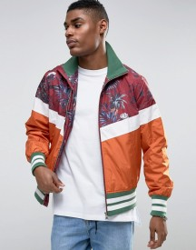 Asos Zip Through Track Jacket With Palm Print afbeelding