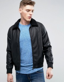 Barneys Faux Leather Jacket afbeelding