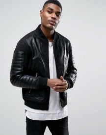 Black Seven Connor Faux Leather Panel Jacket afbeelding