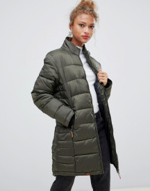 Blend She Dodi Tube Quilted Longline Coat afbeelding