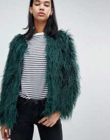Blend She Feyla Crimped Faux Fur Jacket afbeelding