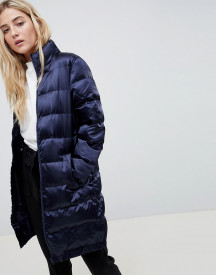 Blend She Longline Sateen Quilted Coat afbeelding