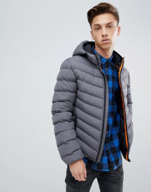 Brave Soul Hooded Quilted Padded Jacket afbeelding