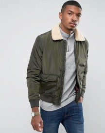 Brave Soul Lightweight Padded Harrington With Borg Collar afbeelding