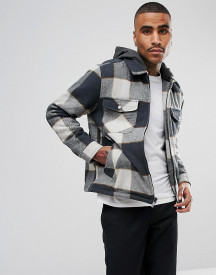 Brixton Casburn Flannel Jacket With Removable Hood afbeelding