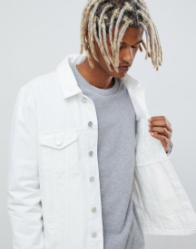 Brooklyn Supply Co Denim Jacket In White afbeelding