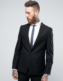 Burton Menswear Slim Blazer With Satin Trim afbeelding