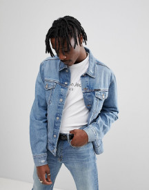 Calvin Klein Jeans Denim Jacket With Abrasions afbeelding