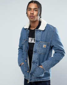 Carhartt Wip Denim Phoenix Jacket With Faux Shearling Collar afbeelding