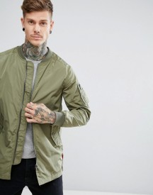 Casual Friday Longline Ma1 Bomber Jacket afbeelding