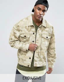 Cayler & Sons Denim Jacket In Camo With Distressing afbeelding