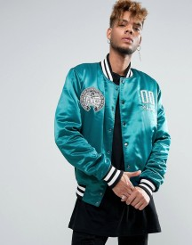 Cheats & Thieves Knowledge Satin Quilted Bomber Jacket afbeelding